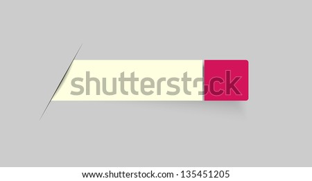 Modern blank rectangular label with blank tag / blank bar with tag