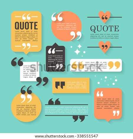 Modern Block Quote Pull Quote Design Stock Vector HD (Royalty Free ...