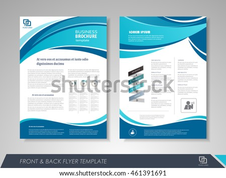 Modern Blue Brochure Design Template Brochures Stock Vector 2018