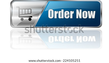 modern blue 3D vector eps10 ordern now button icon sign - stock vector