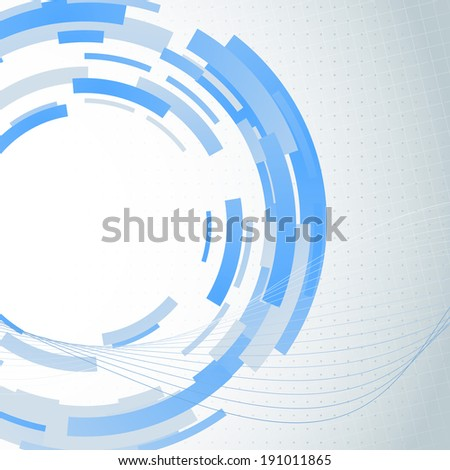 Modern blue gear abstract background. Vector illustration - stock vector