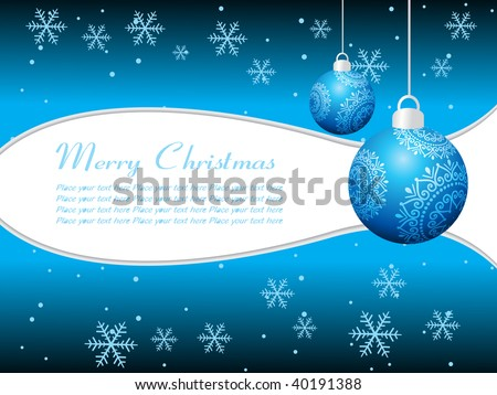 modern blue hanging decorated balls background