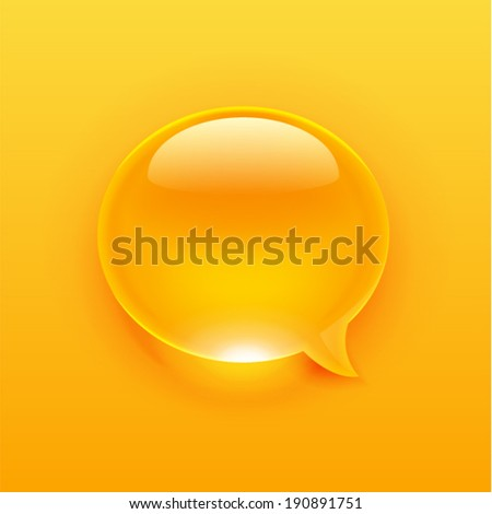 Modern blue message bubble of a drop style. Vector illustration - stock vector