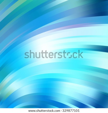 Modern blue smooth background abstraction with swoosh wave. Vector illustration - stock vector
