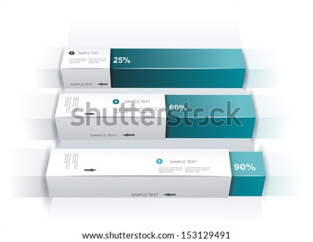 Modern box Design Minimal style infographic template - stock vector