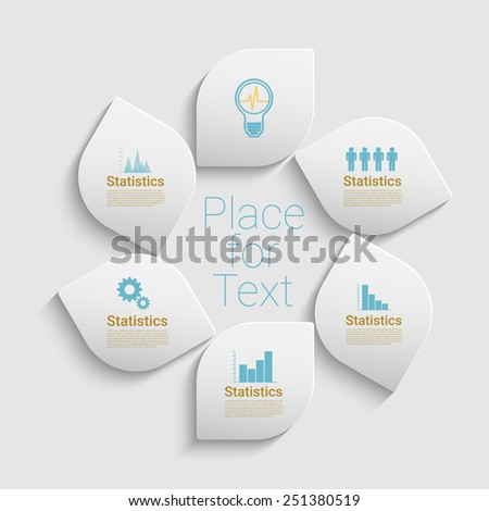 Modern bright style vector illustration. Can be used for work-flow layout, diagram, number options, web design, infographics, business brochure. Eps10 vector for your design - stock vector