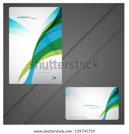 modern brochure design - stock vector