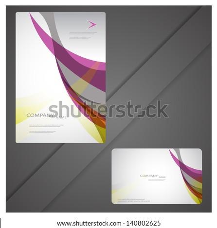 modern brochure design - stock vector
