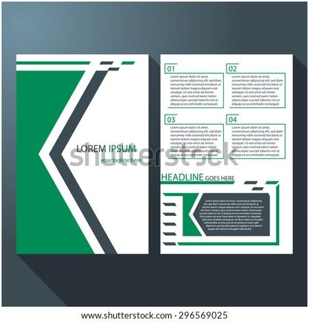Modern brochure / flyer design with arrows layout, eps10 Vector. - stock vector