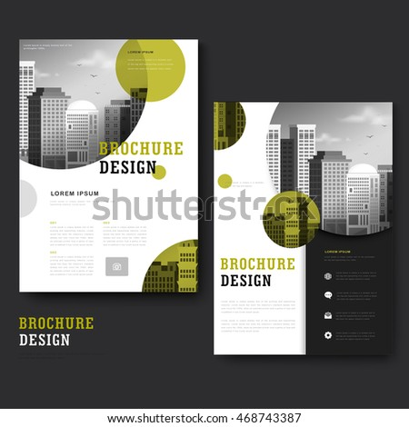Modern Brochure Template Design City Landscape Stock Vector - Brochure template ideas