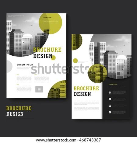 Modern Brochure Template Design City Landscape Stock Vector - Brochure template ideas