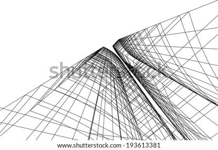 modern building - stock vector