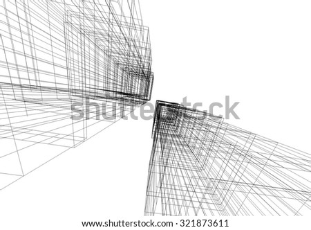 Modern building. Architectural background - stock vector