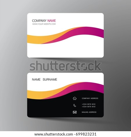 Modern business card design inspiration abstract stock vector 2018 modern business card design with inspiration from the abstract reheart Images