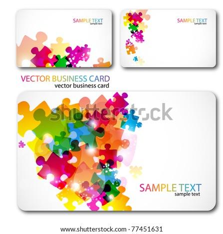 Modern Business-Card Set - stock vector