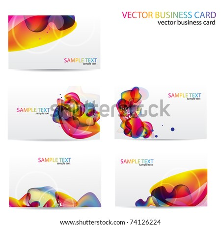 Modern Business-Card Set. Designed in the same style - stock vector