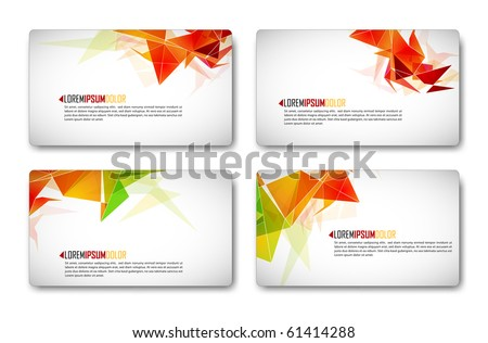 Modern Business-Card Set | EPS10 Compatibility Required - stock vector