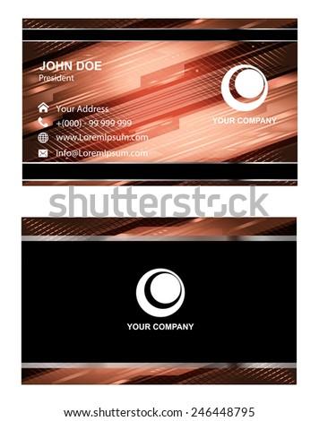 Modern business card template  - stock vector