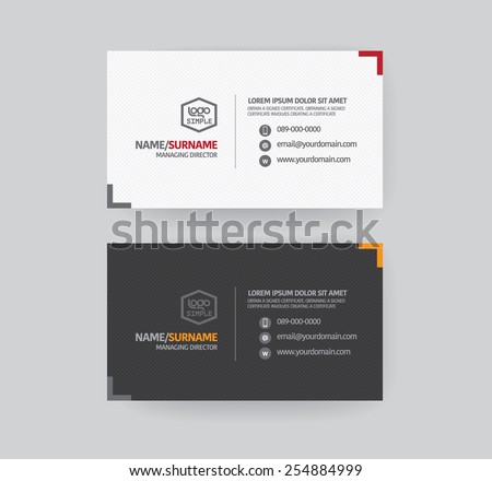 Modern business card template. - stock vector