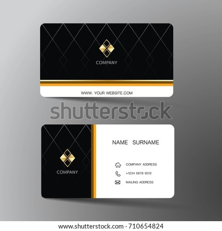 Modern business card template design inspiration stock vector modern business card template design with inspiration from the abstractntact card for company fbccfo Gallery