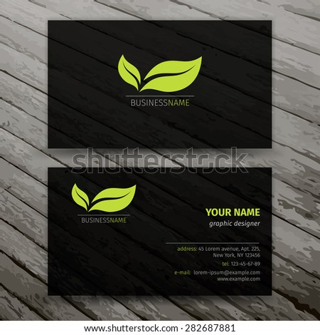 Modern Business Cards Templates Set - stock vector