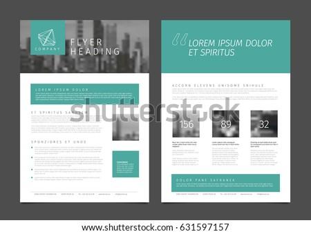 modern business corporate brochure flyer design stock vector