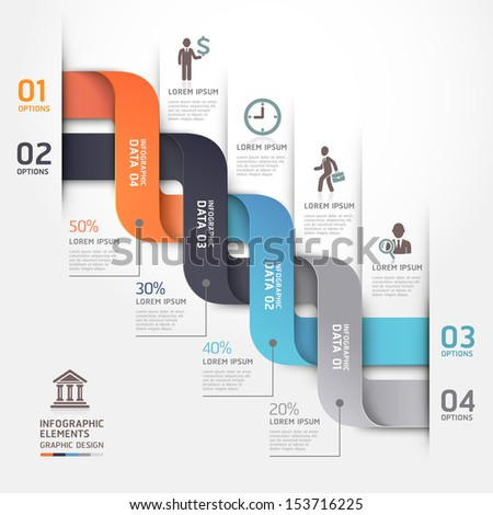 Modern business diagram origami style options banner. Vector illustration. can be used for workflow layout, number options, step up options, web design, infographics. - stock vector