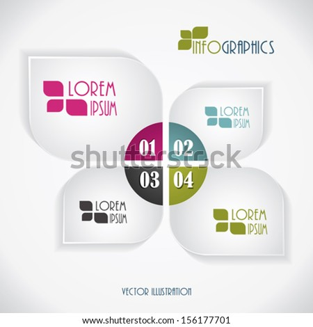 Modern business Infographics template. Vector illustration - stock vector