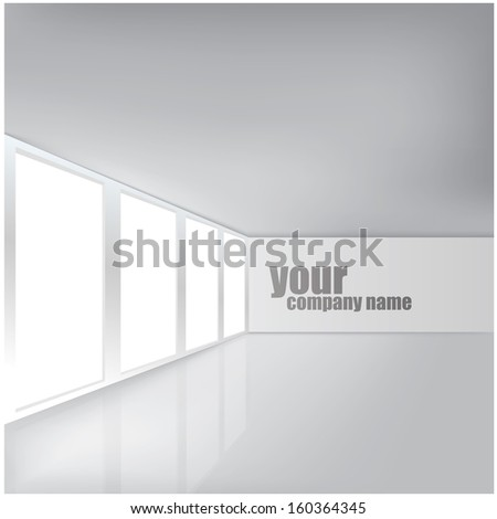 Modern Business Interior - stock vector
