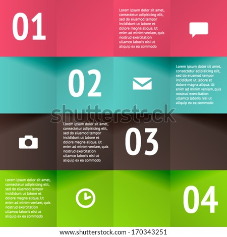 Modern business material design style options banner. Vector illustration. For workflow layout, diagram, number options, step up options, web design, infographics.