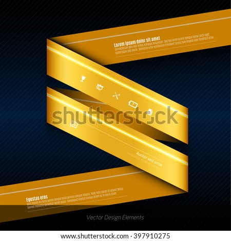Modern business origami style options banner. Orange vector illustrationfor web design, infographics, flyer. The same illustration without sample texts in my portfolio. - stock vector
