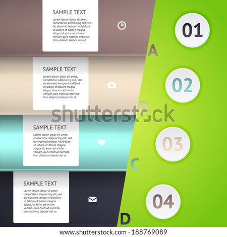Modern business origami style options banner. Vector illustration. Vector arrows. For workflow layout, number options, step up options, web design, infographics.