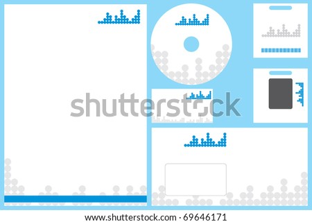 Modern business stationery template business card stock vector modern business stationery template with business card letterhead envelope id card and cd flashek