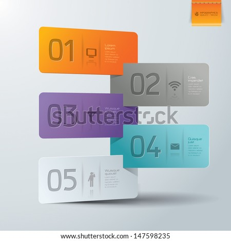 Modern business steb origami style options banner. Vector illustration. can be used for workflow layout, diagram, number options, step up options, web template, infographics.  - stock vector