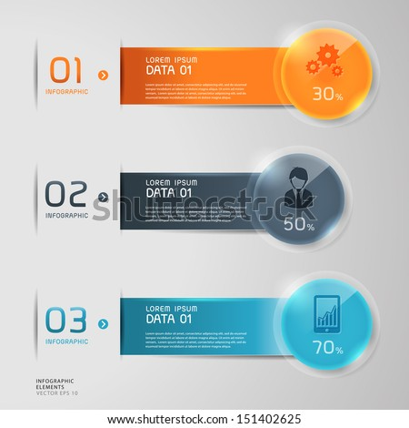 Modern Business step options. Vector illustration. can be used for workflow layout, diagram, number options, step up options, web design, infographics, banner.  - stock vector