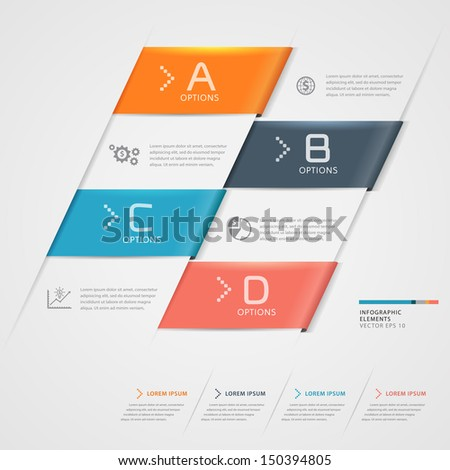 Modern business step origami style options banner. Vector illustration. can be used for workflow layout, diagram, number options, step up options, web design, infographics.  - stock vector