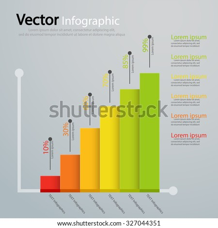 Modern business steps charts and graphs.Vector illustration