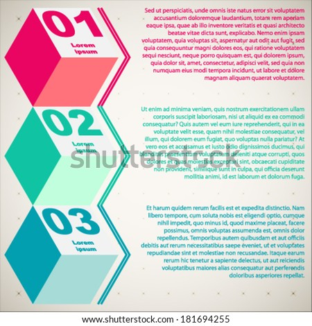 Modern business steps to success charts and graphs options banner.  Business Infographics  can be used for workflow layout, banner, diagram, number options, step up options, web design.  - stock vector