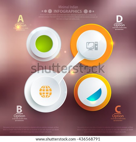 Modern business template style. Web info graphic banner shape. Vector illustration for business presentation. - stock vector