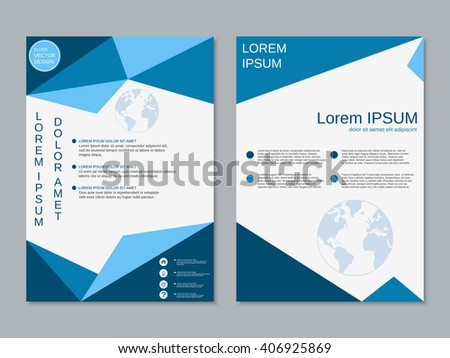 Vector Brochure Template Design Triangles Icons Stock Vector ...