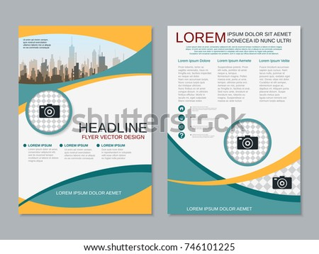 Professional business presentation slide show vector stock for 2 sided brochure templates