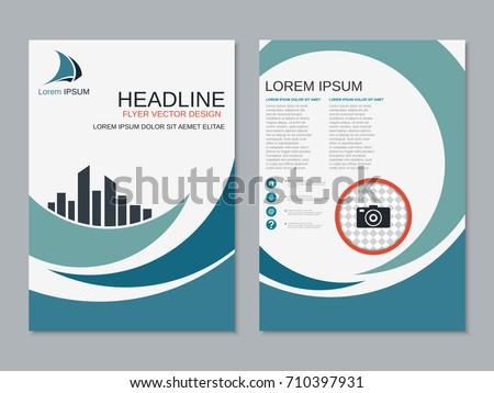 Modern Business Twosided Flyer Booklet Brochure Stock Vector 2018