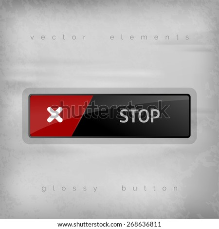 Modern buttons STOP with color space for icons. Vector design elements. - stock vector