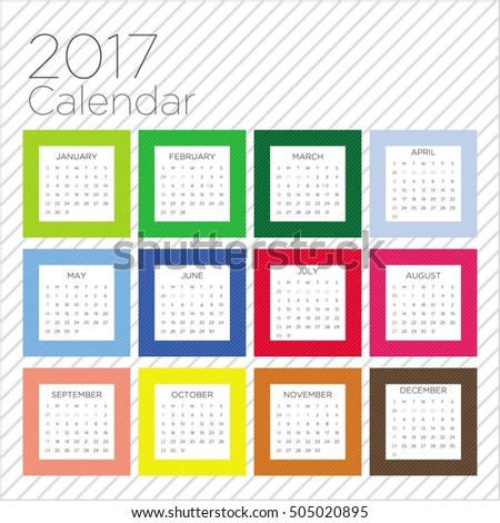 Modern 2017 calendar template for your company
