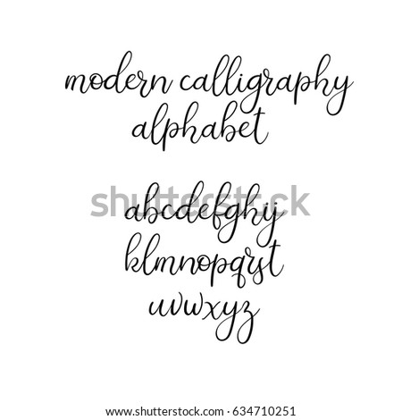 Hand Drawn Modern Calligraphy Font Stock Vector 451466011