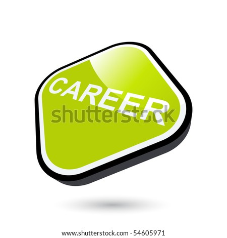 modern career sign - stock vector