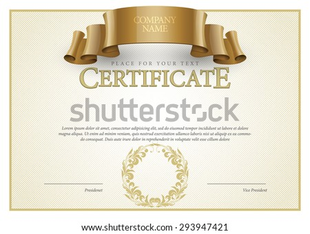 Modern Certificate. horizontal Template diplomas currency. Vector - stock vector