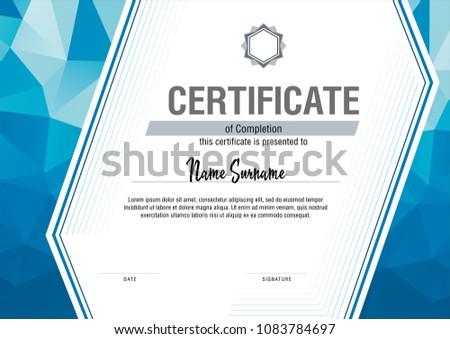 modern certificate template vector illustration - Modern Certificate Template