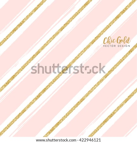 gold and pink glitter border stock images royaltyfree