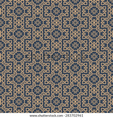 Modern chinese stylish seamless texture geometric tiles wallpaper pattern background in retro style for your design vector illustration